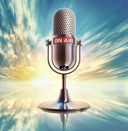 on air microphone photo