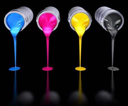 printing inks: cmyk colors