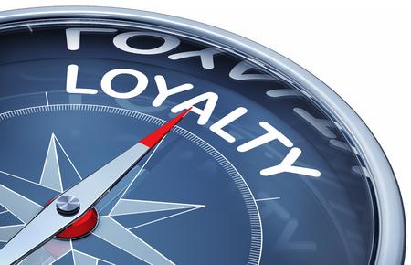 fidelidad: lealtad en la brújula Foto de archivo