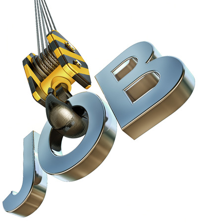 contentedness: job icon on a crane