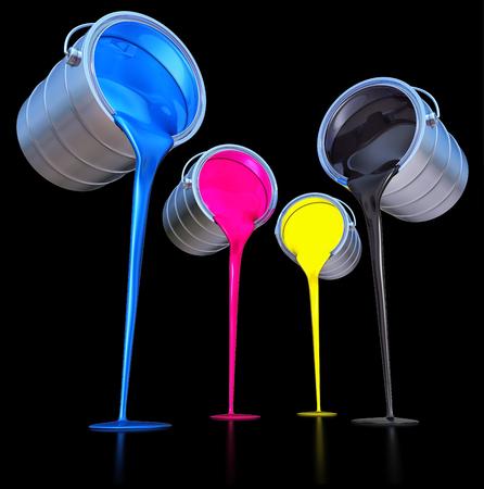impresora: colores CMYK concepto