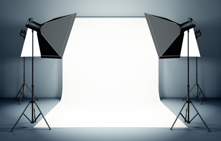 strobe: Studio background Stock Photo