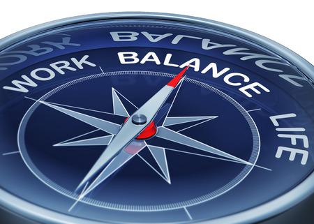 concepto equilibrio: equilibrio trabajo-vida Foto de archivo