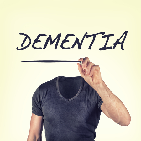 brain aging: dementia Stock Photo