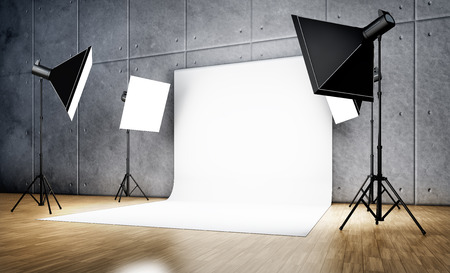 spotlight white background: studio background