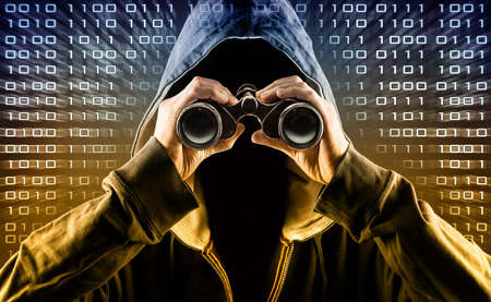 identity thieves: hacker Stock Photo