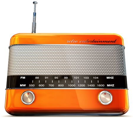 news cast: vintage radio Stock Photo