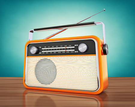 radio beams: vintage radio Stock Photo