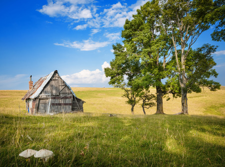 sheds: shed in beautiful nature Stock Photo
