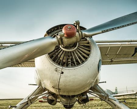 airscrew: take off Stock Photo