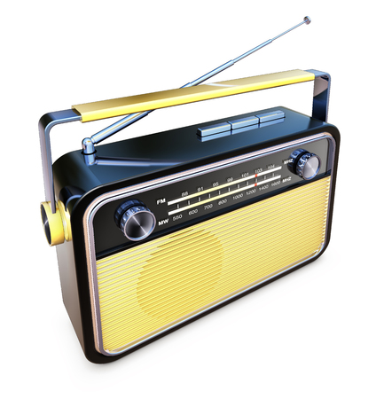 news cast: vintage radio Stock Photo