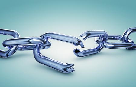 cadena rota: Cadena quebrada