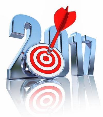 year increase: 2017 Stock Photo