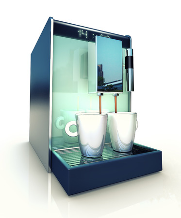 lath in modern: coffee machine