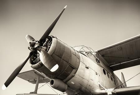 airscrew: old airplane Stock Photo