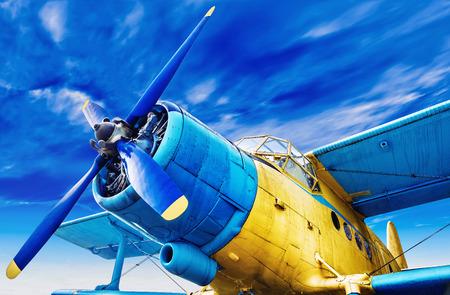 avión de cosecha