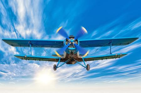 biplane Standard-Bild