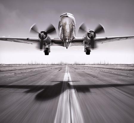 take off of an airplane vintage Standard-Bild