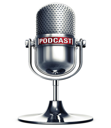 3D rendering of a podcast microphone