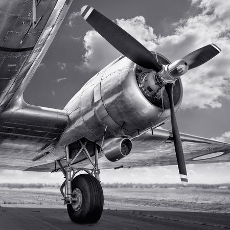 propeller of an aircraft Stock Photo