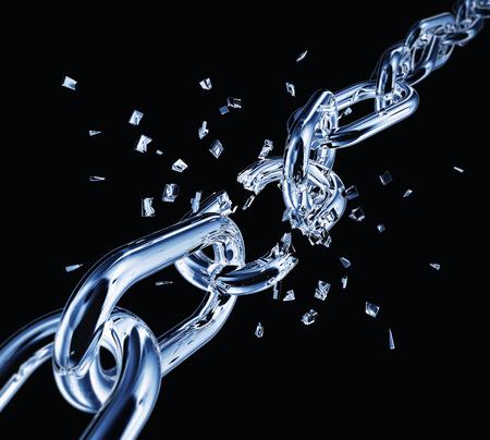Broken chain Zdjęcie Seryjne