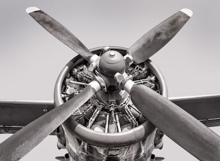 airscrew: engine of an old aircraft