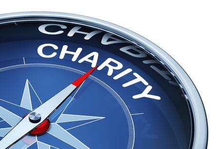 altruismo: Compás de caridad Foto de archivo