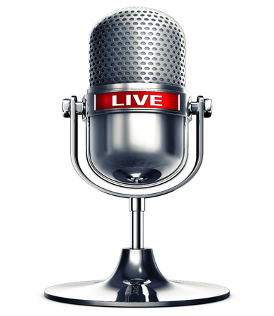 3D rendering of a live microphone