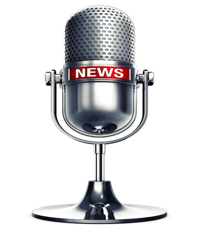 3D rendering of a news microphone Stock Photo