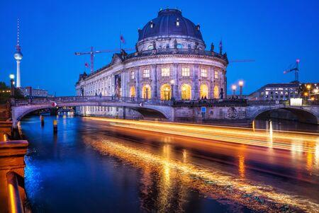 bode: Bode museum at night, berlin