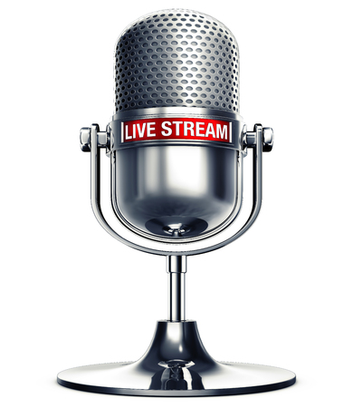 3d rendering of a man with the words live stream