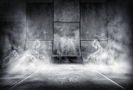 3d illustration of an smoky concrete background