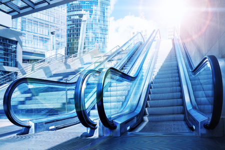 deterministic: escalator Stock Photo