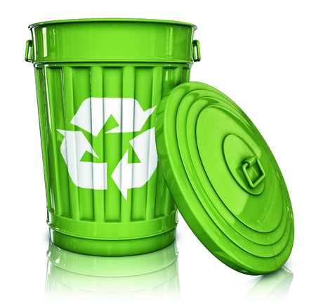 3D rendering of a recycling can Stock Photo