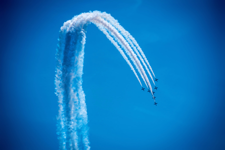 Airshow under a blue sky 写真素材