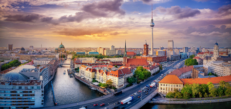 panoramic view at the city center of berlin Reklamní fotografie - 112424509