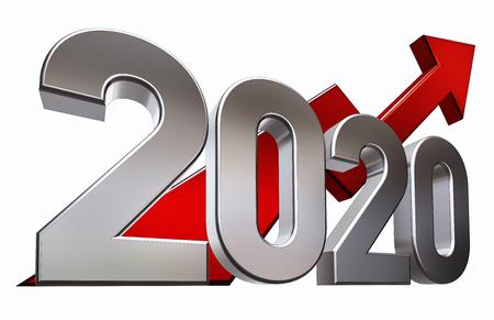 3D rendering of an 2020 symbol