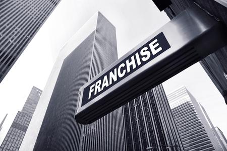achtergrond voor een franchiseconcept Stockfoto
