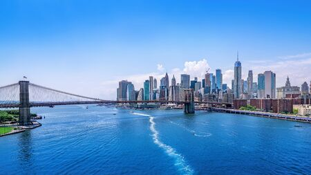 Panoramic view at the skyline of new york