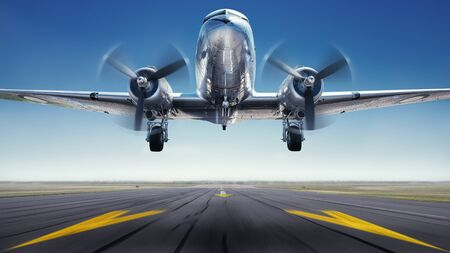 Historical aircraft while take off
