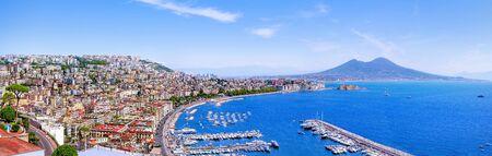 The beautiful coastline of Napoli, Italy
