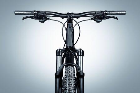 Close up of an mountain bike