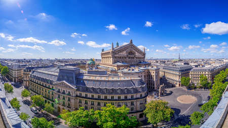 panoramic view at central paris, france