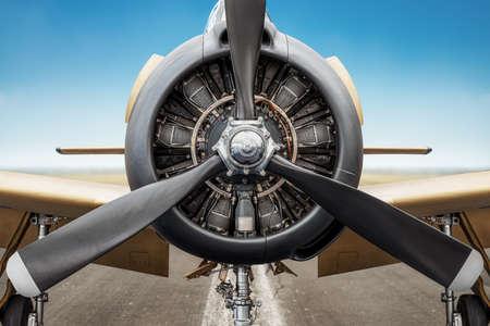 radial engine of an historical aircraft Reklamní fotografie