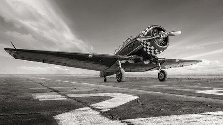 historical aircraft on a runway