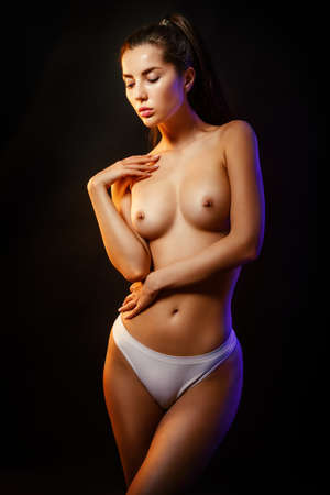 young beauty with a perfect body Stockfoto