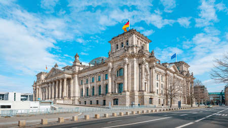 the famous reichstag building in berlin, germany Redactioneel