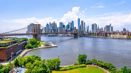 panoramic view at the skyline of manhattan, new york