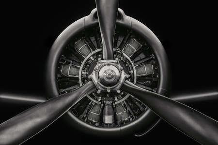 low key picture of an aircraft radial engine