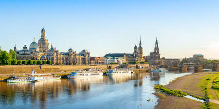 panoramic view at the old town of dresden, germany
